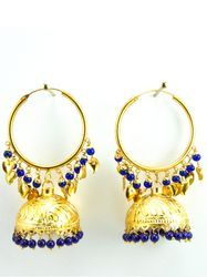 Gold Leaf Work Jhumka