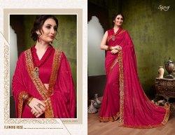 Ethnic Stylish Designer Plain Saree
