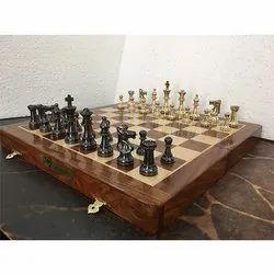 2.5 Brass International Chess Set
