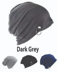 Ring Beanie Cotton Dark Grey Caps
