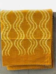 Yellow Cotton Kantha Bed Covers