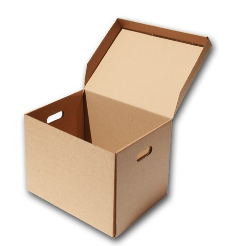 Brown Cuboid Shipping Corrugated Box