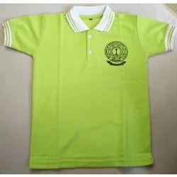 Cotton Both School T-Shirt, Size: S, M & L