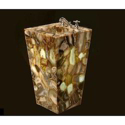 Agate Stone Brown Pedestal Sink, Thickness: 2.5-25 mm