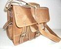 Front Pocket  Vintage Leather Shoulder Bag