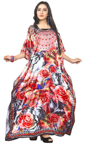 74ede0e017 3D Digital Printed Party Wear Women Kaftan Kurtas 2018