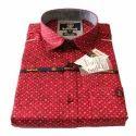 Xl Men S Red Printed Shirt