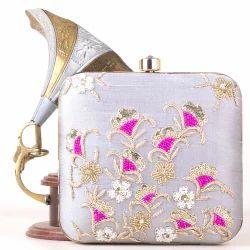 Gorgeous Silver Clutch Bag