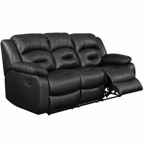 Black Recliner Sofa