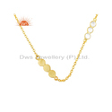 925 Silver Gold Plated CZ Necklace