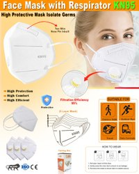 Face Mask With Respirator KN95