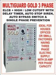 Powder Coated Sheet 50 Hz Three Phase High Low Voltage Protecter Panel With ELCB And MCB, For Domestic
