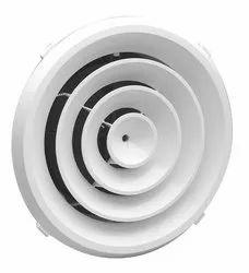 12 Inch Powder Coated Air Aluminium Ceiling Diffuser, For Industrial, Shape: Circular/Round