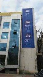 Printed Rectangle Hanging Banner, For Outdoor