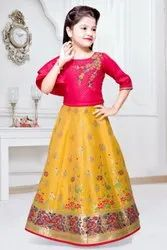 Latest designer girls lehenga for kids