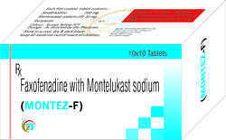 Faxofenadine 120mg , Montelukast Sodium 10 mg Tablets