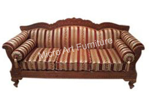 Craved Teak Wood Vintage Sofa Set Warranty 1 Year