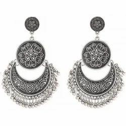 1820dba3d Jhumki -circle Shape And Black Metal Jhumke, Rs 150 /pair | ID ...