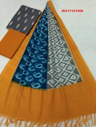 Ikat Cotton Suits Dress Material