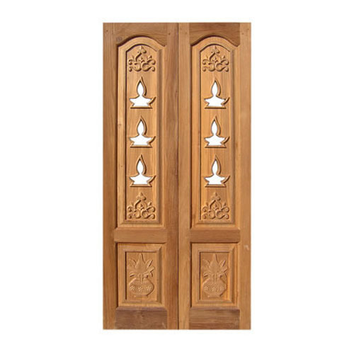 Wooden door designs for pooja room for Plywood door design