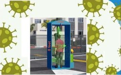 Sanitizer Booth, Size/Dimension: 3 x 3 x 8 Feet