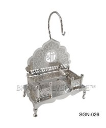 Pure Silver Fine Engraving God Singhasan