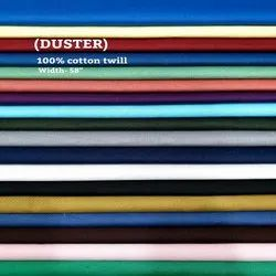 DUSTER 100% cotton twill shirting fabric