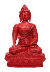 Resin & Marble Dust Sitting Buddha Idol Statue Showpiece/Buddha Statue for Home Decor