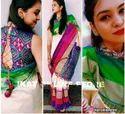 Ikat Silk Sarees, Length: 6 M (with Blouse Piece)