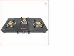 3 Brass Burners Faber Cooktop Splendor 3BB BK Stainless Steel, Size: 690 X 360 X 55 Mm