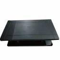 Rectangular Black Wooden Center Table, Size: 4 X 2 Feet