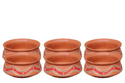 500 ml Decorative Clay Handi