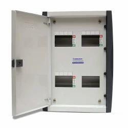 Mild Steel 8 Way MCB Box Double Door, Voltage: 220 V