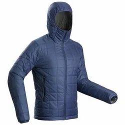 Decathlon Trek 100 Hood Blue Pipe Men Mountain Trekking Padded Jacket