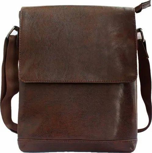 Brown Men Leather Side Bag 94d045ea396a5