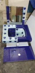 Wall Mounted Multicolor Glass wash basin full set, For Bathroom