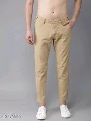 Chinos Black Cotton Pants For Man