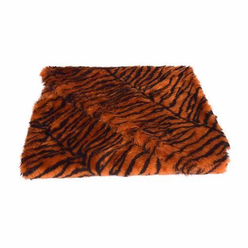01d833d342 Printed Artificial Faux Fur Cloth Vardhman Fur Tiger Print Fur Cloth ...
