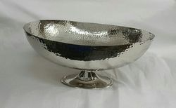 Silver Handmade Hammered Plates Bowl
