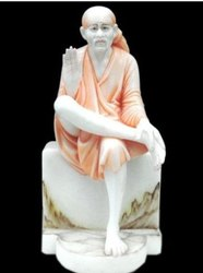 Sai Baba Painted Marble Statue