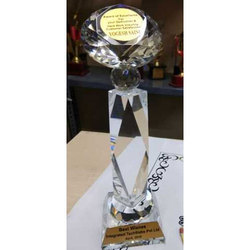 Best Wishes Crystal Trophy