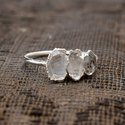 925 Sterling Silver Herkimer Diamond Ring