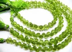 Natural Peridot Onion Shape Briolette Size 5-6mm Beads Strand 8 Inches