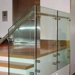 Frameless Staircase Glass Railing