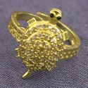 Designer Unisex Party Wear Tortoise Shape Brass Ring