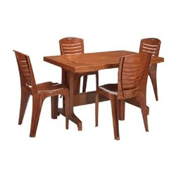 Dimensions: 880 W*1200 D*725 h Plastic Nilkamal Dining Table With 4 Chair Without Arms
