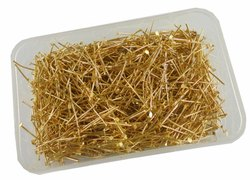 Eshoppee 1 Kg Gold Color Metal Head Pin Keel For Jewellery Making Fitting And Findings