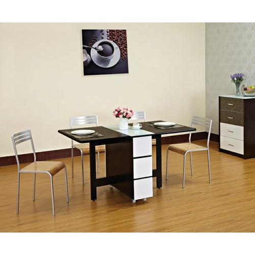 Space Genie Standard Height Designer Folding Dining Table Set Rs