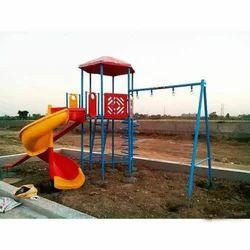 Kids Plastic & Mild Steel Outdoor Playground Equipment