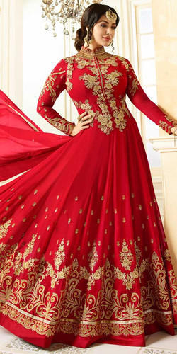 2563cfe485 Semi-Stitched Party Wear Ayesha Takia Red Georgette Anarkali Suit ...
